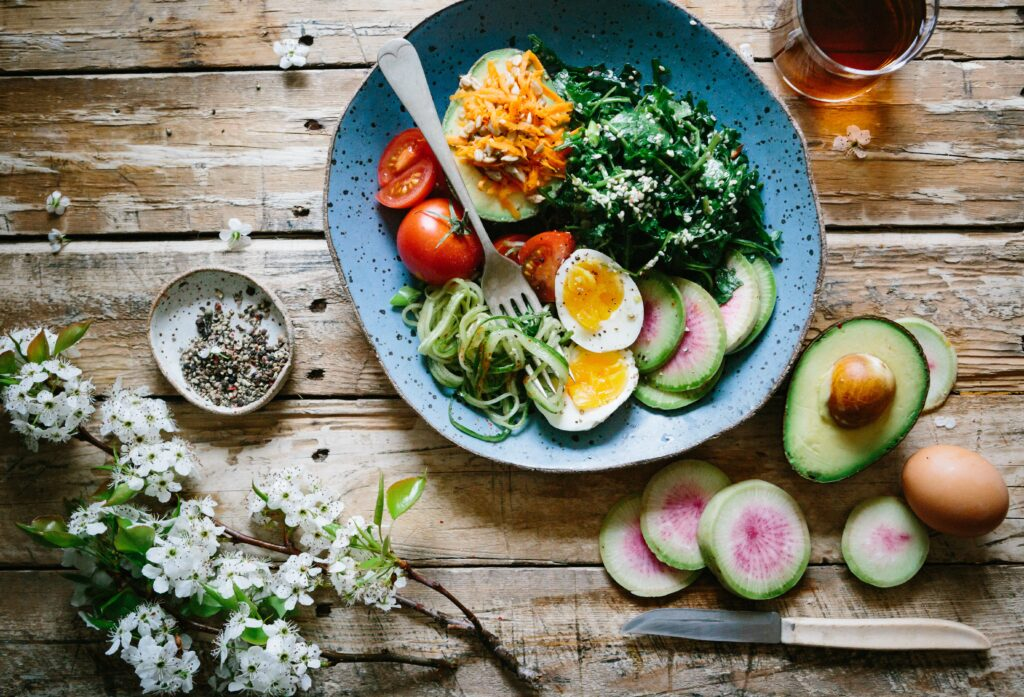nutrition and hydration important - healthy bowl